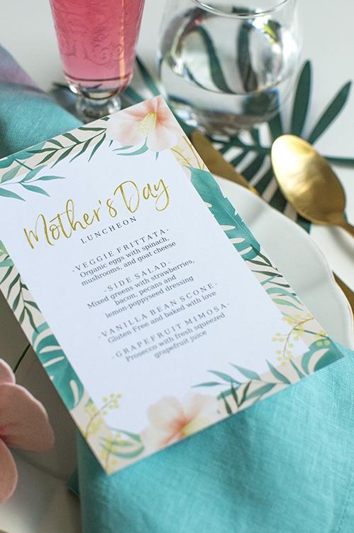 Mais uma opção de menu personalizado para o dia das mães