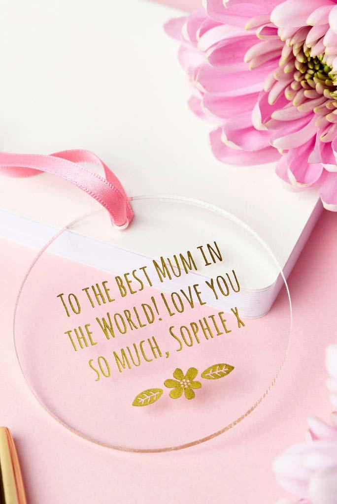 Medalha de dia das mães com dedicatória