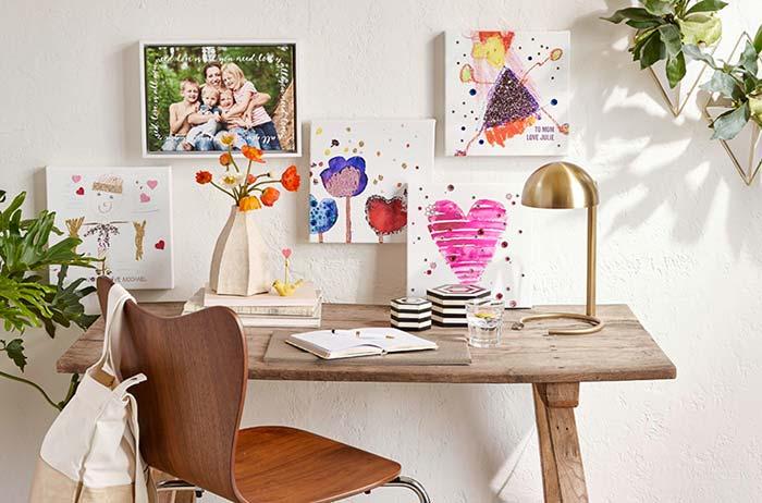 Home Office decorado para o dia das mães