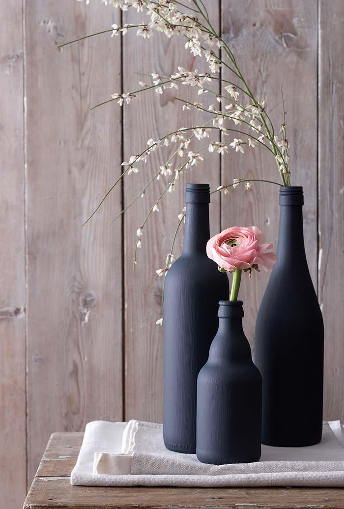 cobertura completa e uniforme para seu conjunto de garrafas decorativas