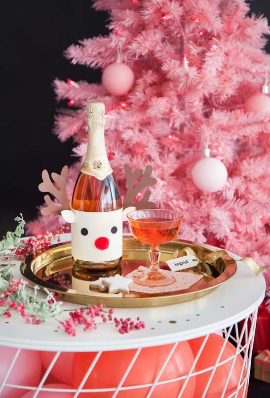 Garrafas decoradas para o Natal