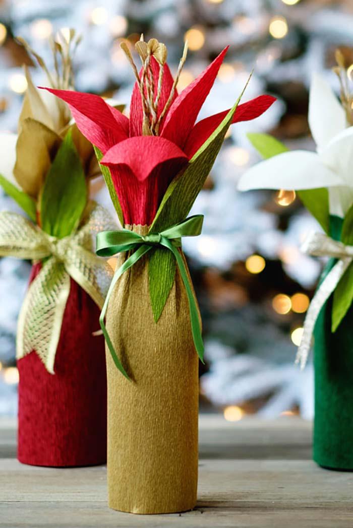 Garrafa-arranjo de flores