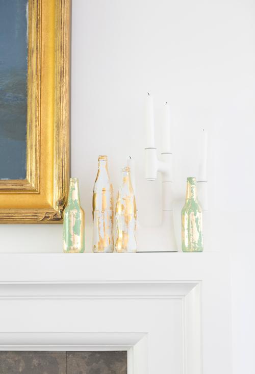 decoração mais clássica da garrafa decorada