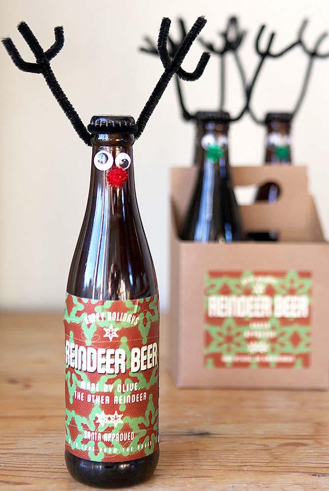 Outra personalização de garrafas para o natal