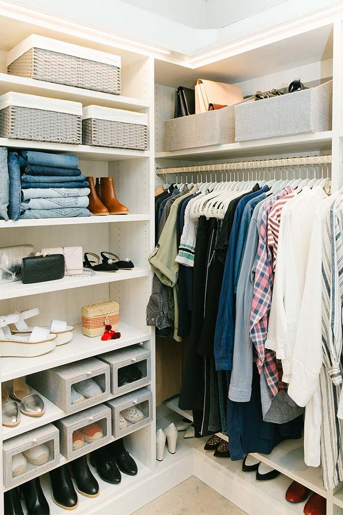 Caixas no closet