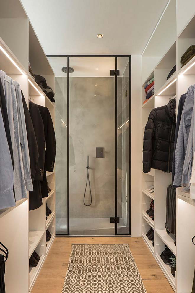 Sair do banho e entrar direto no closet