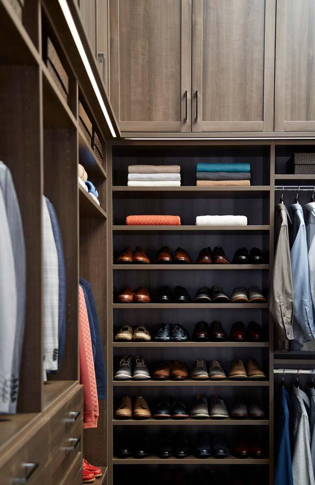 Modelo de closet de madeira