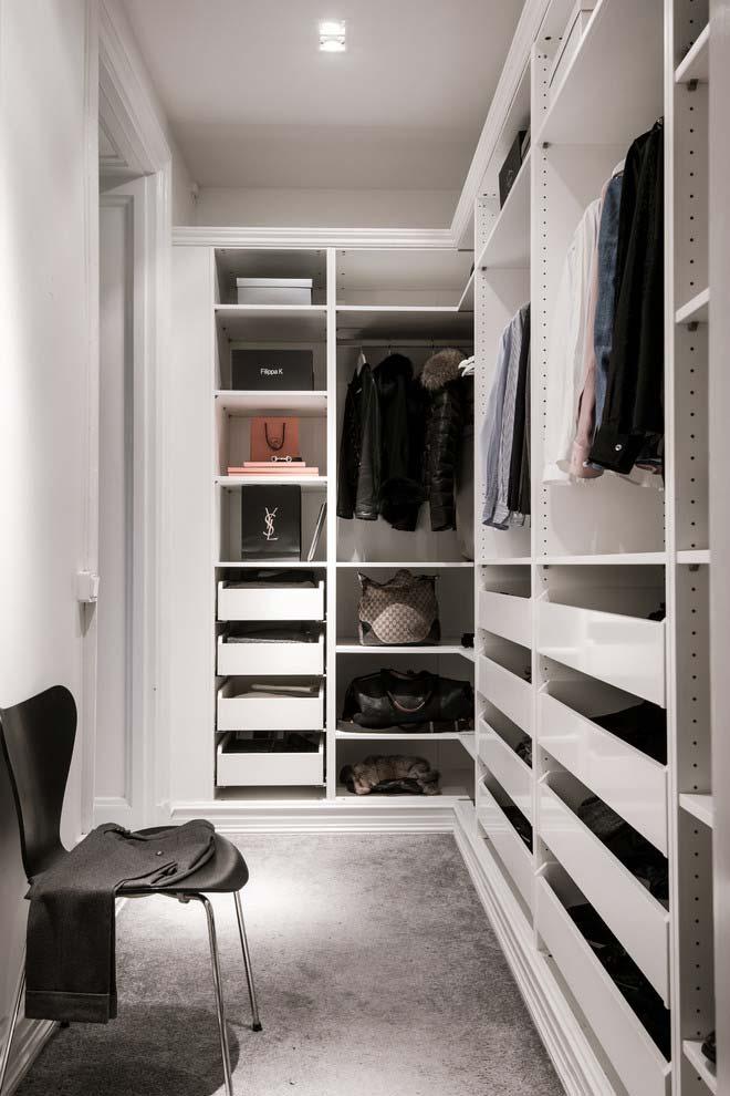 Modelo de closet em L