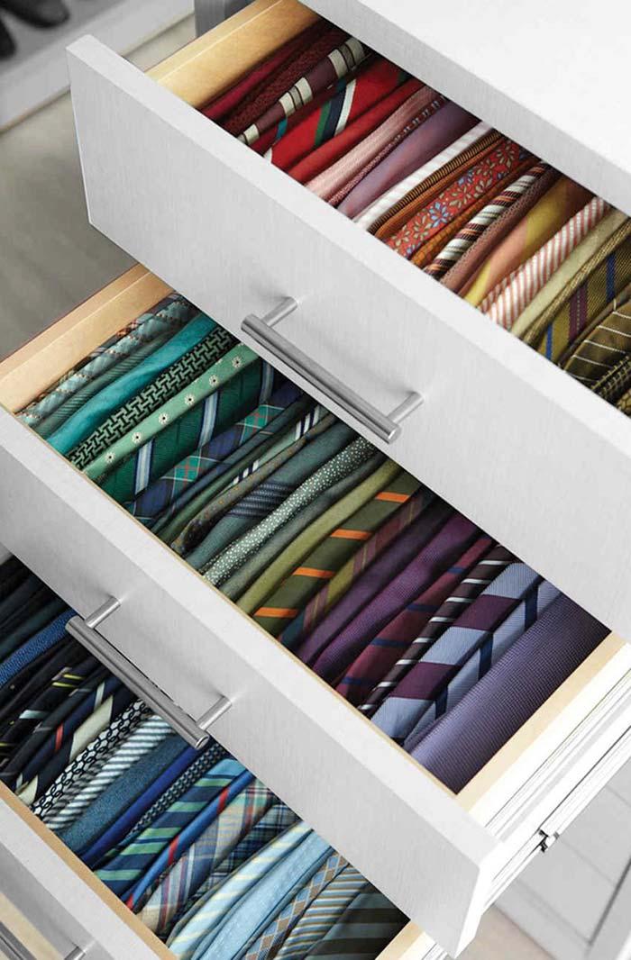 Organize as gravatas por cores
