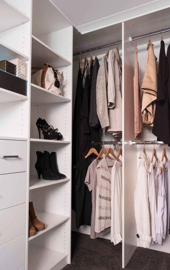 Araras para todas as medidas de roupas