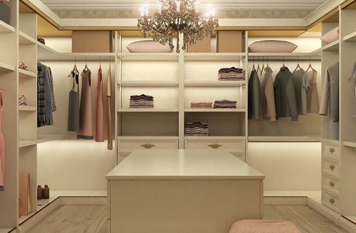 Modelo de closet de luxo