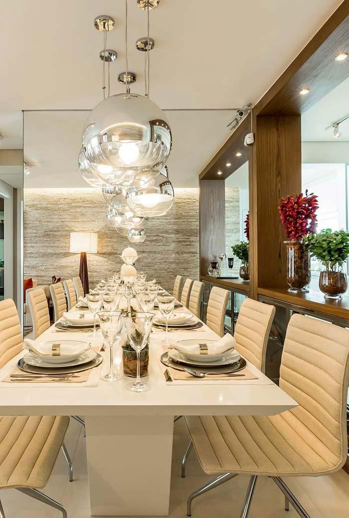 Sala de jantar decorada 60 ideias fotos e projetos perfeitos for Mesa de cafe pequena sala de estar