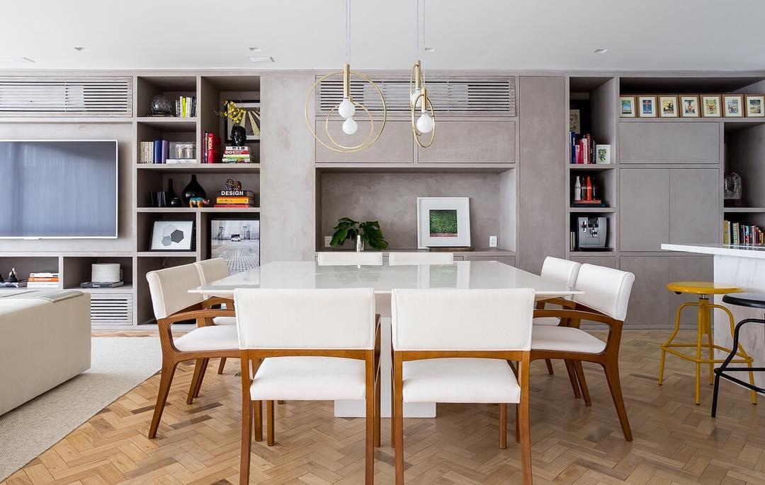 Ambientes integrados pedem decorações similares para criar unidade
