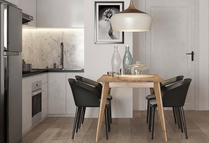 Cozinha e sala de jantar juntas e decoradas com muito estilo
