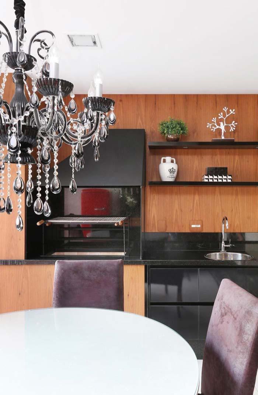 Um pouco de luxo e glamour para a varanda gourmet