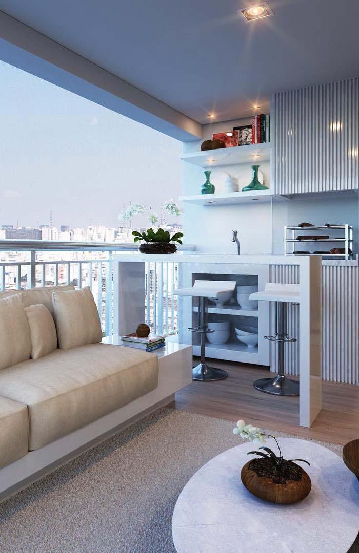 Varanda gourmet ou sala de estar