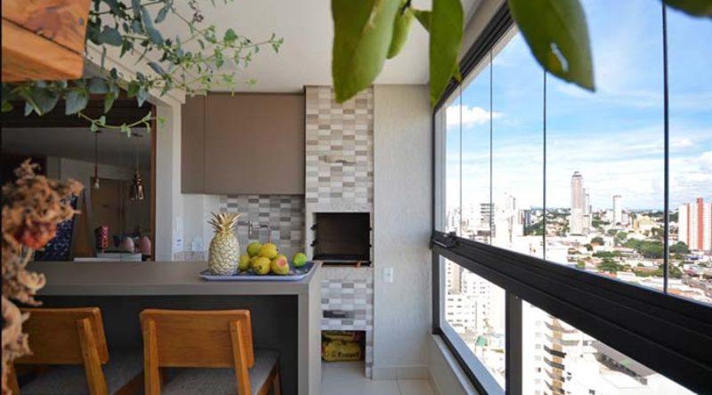 100 modelos de varandas gourmet decoradas em casas e apartamentos
