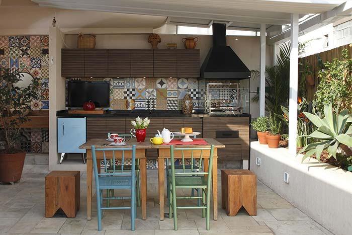 varanda gourmet para lembrar as casinhas simples de interior