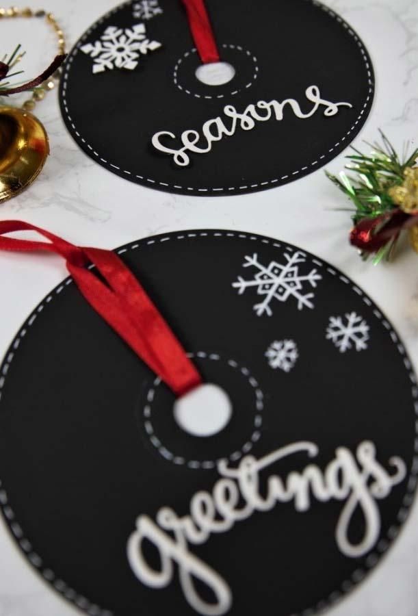 Artesanato de CD para Natal