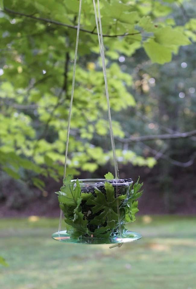 Hanger para plantinhas com CD