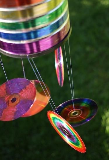 Artesanato com CD para pendurar