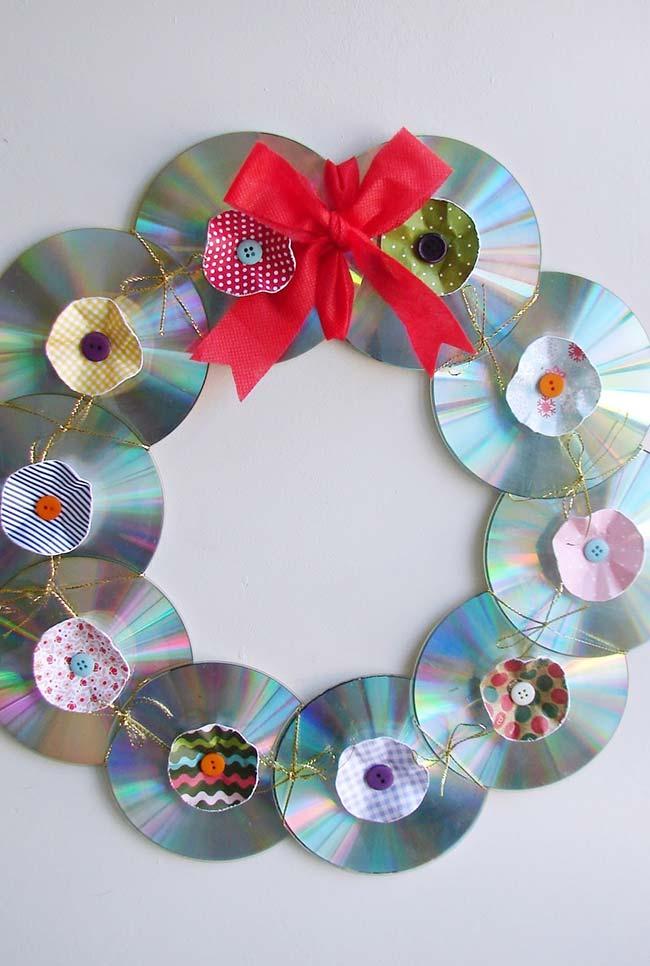 Guirlanda de Natal com CDs
