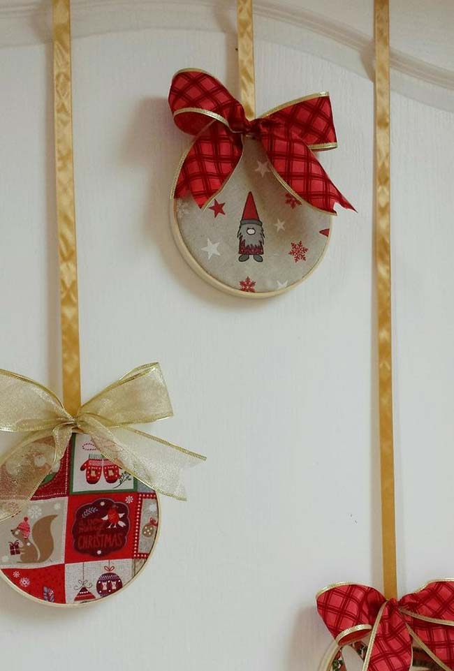 artesanato com CD para Natal