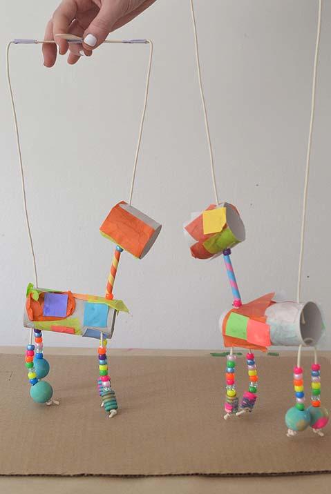 marionetes de rolo de papel higiênico