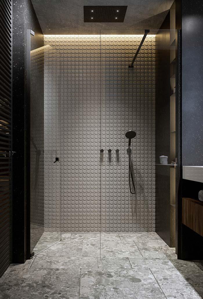 banheiro moderno com um ênfase para um banho relaxante
