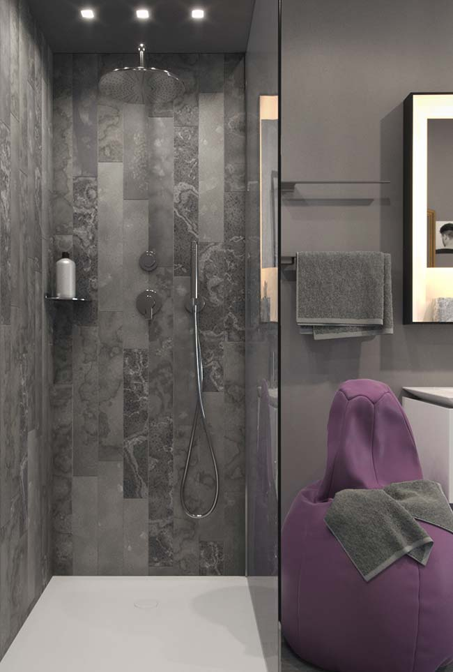 Banheiro moderno como uma área de relaxamento