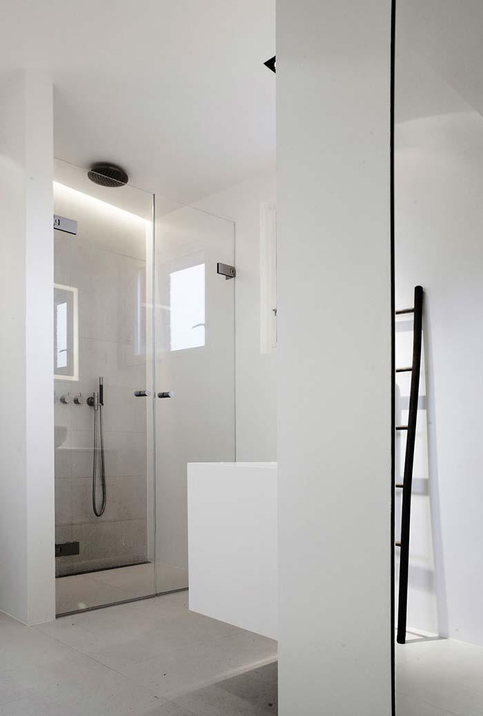 banheiro moderno em vidro
