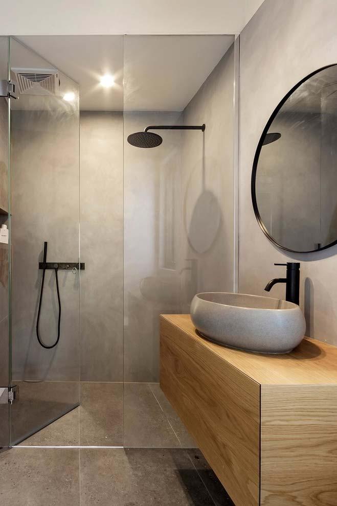 Banheiro moderno e prático