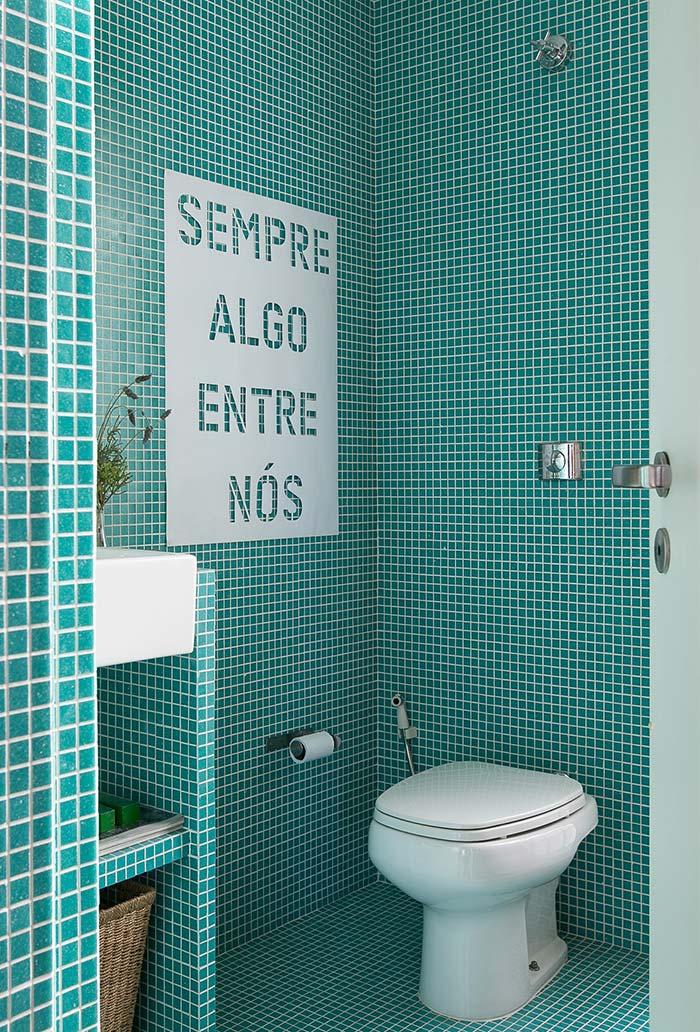 Decoração de banheiro moderno simples