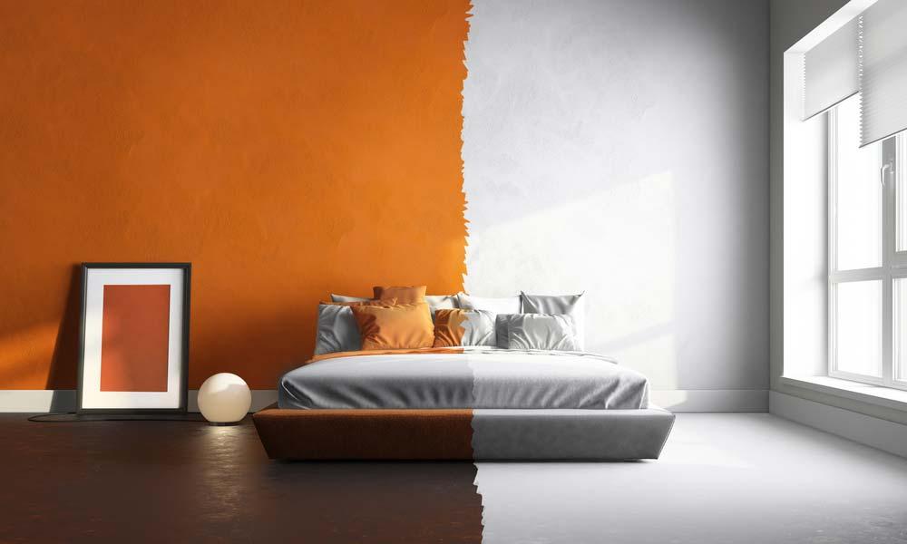 Tinta de cores para quarto