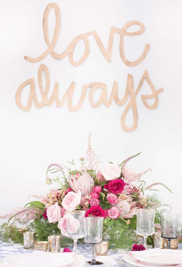 Decoração Dia dos Namorados com um arranjo floral