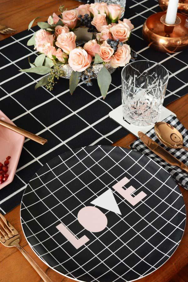 Decoração do Dia dos Namorados com outras cores e padrões