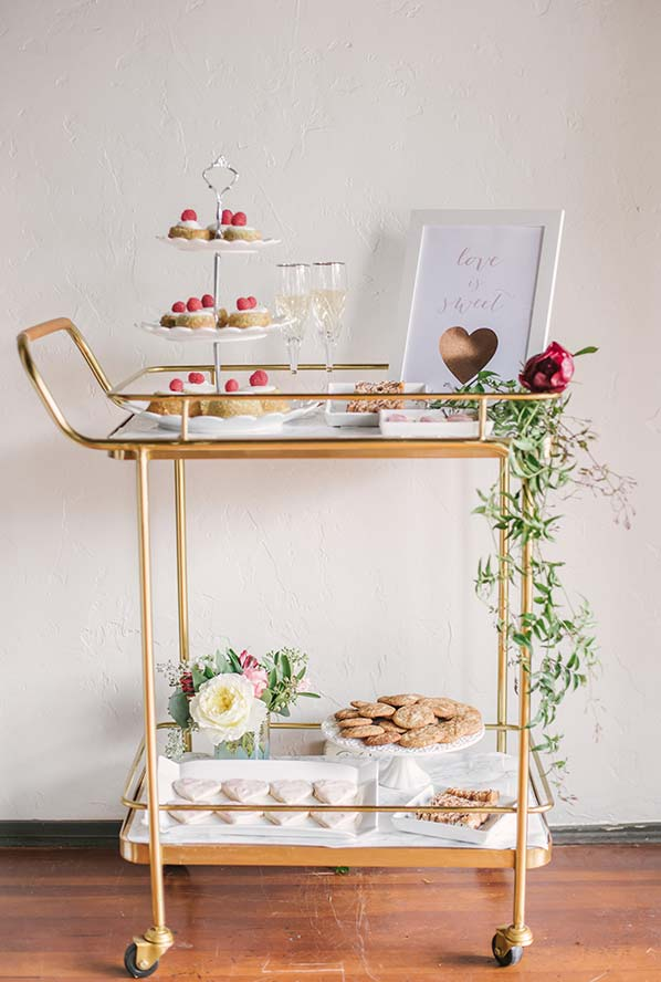 Um banquete móvel para comemorar a dois