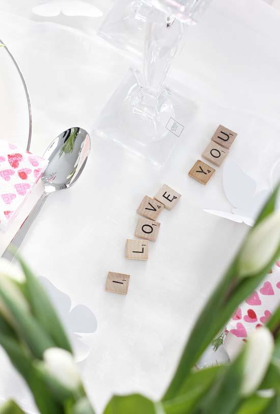 Que tal formar uma mensagem especial para quem você ama