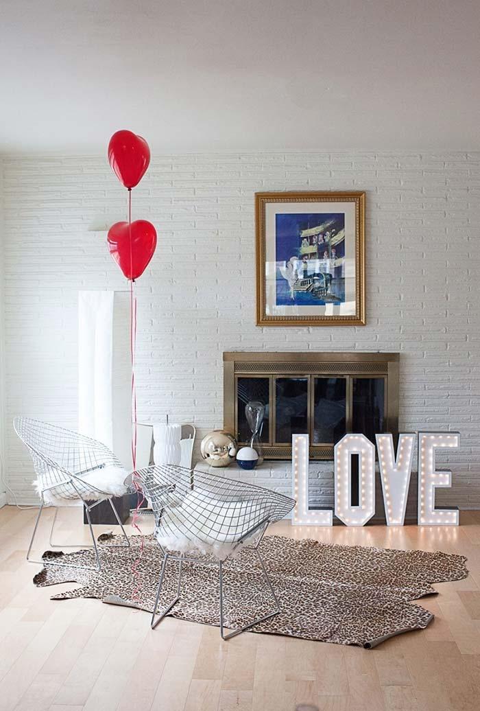 Decoração de Dia dos Namorados simples