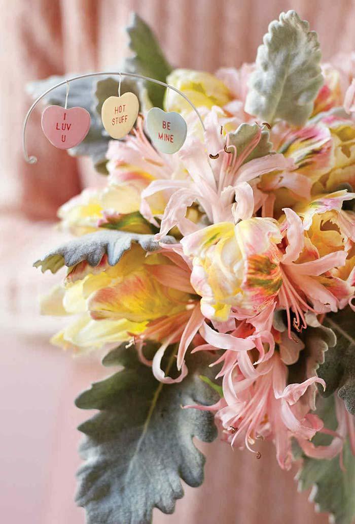 Arranjo de flores de Dia dos Namorados