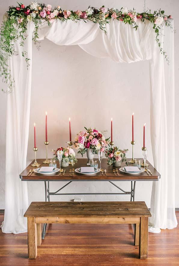 Jantar romântico de Dia dos Namorados