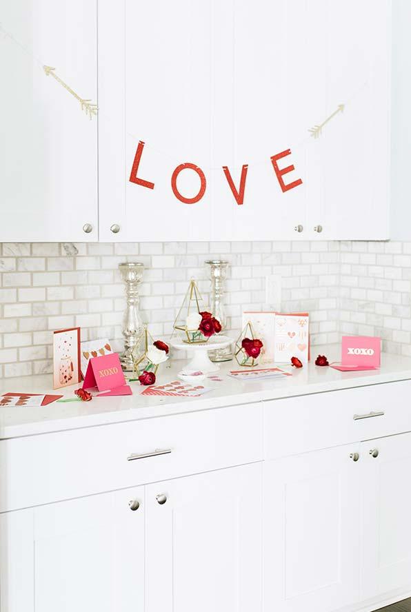 Decoração Dia dos Namorados em papel