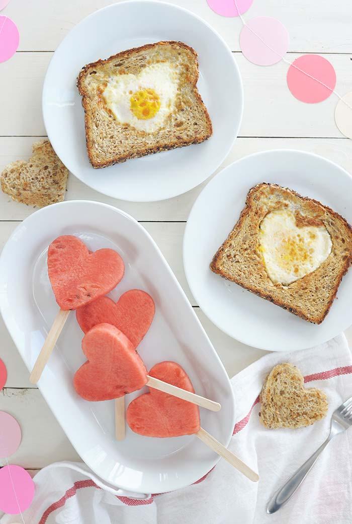 Café da manhã especial de Dia dos Namorados