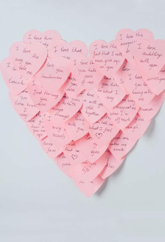 Mural das mensagens de amor