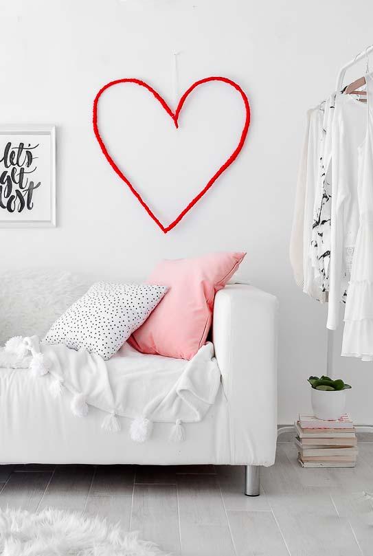 Decoração Dia dos Namorados minimalista