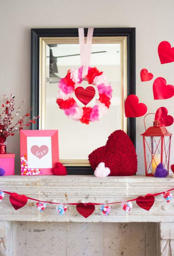 Decoração Dia dos Namorados cheia de corações