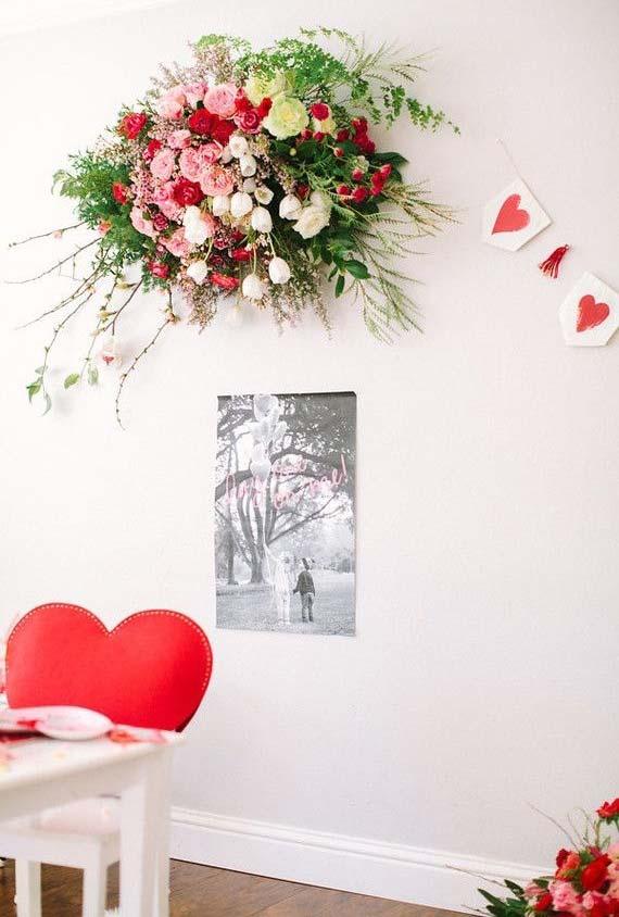 Decoração da parede para Dia dos Namorados