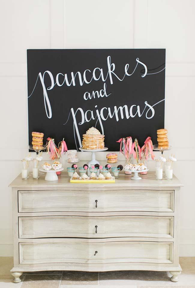 Festa de pijama café da manhã