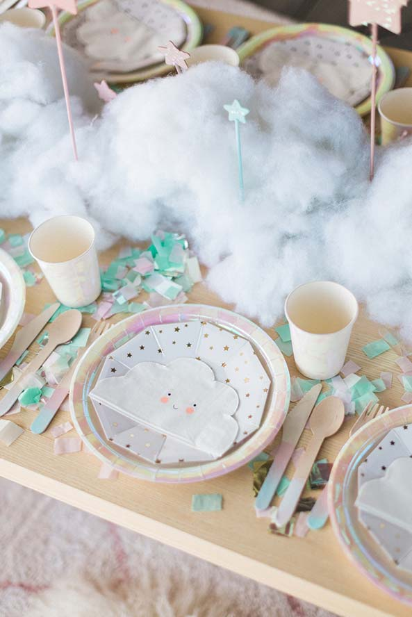 Ideia de decoração para festa do pijama dos sonhos