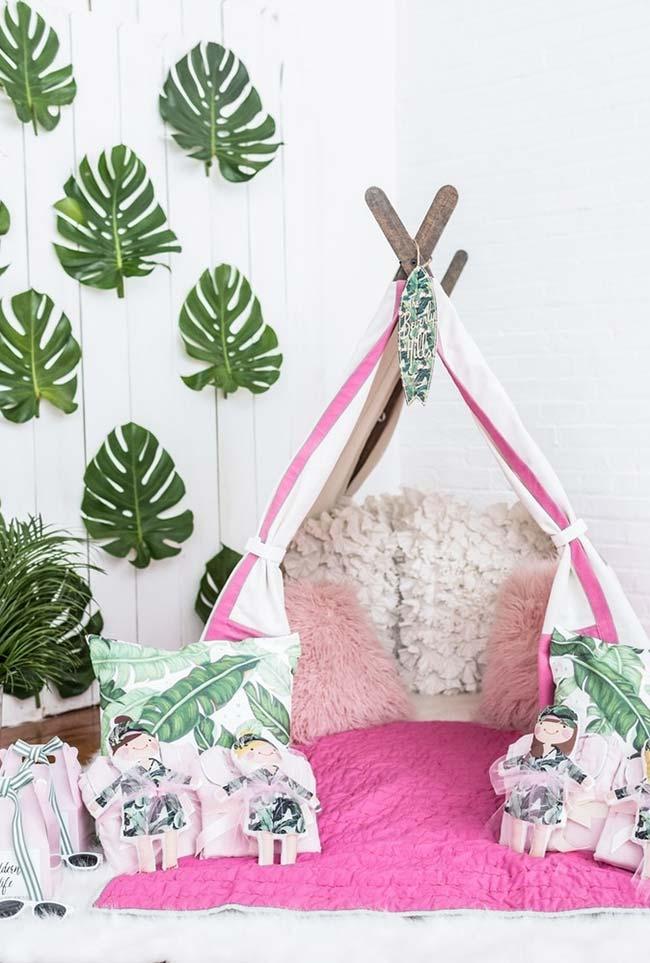 Ideia perfeita para uma festa do pijama no estilo hippie chic